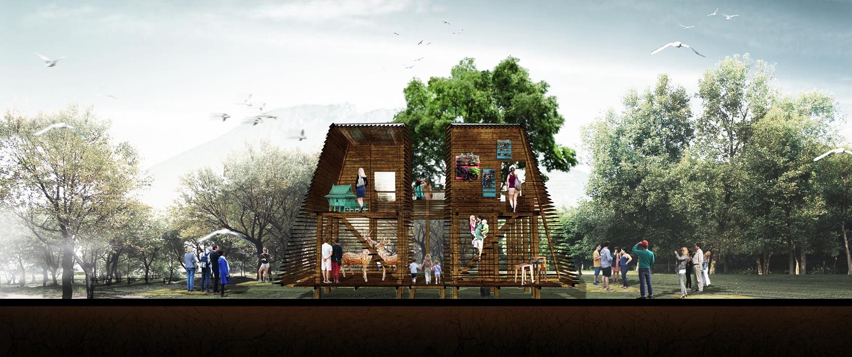 Konteks Karya Pemenang Lomba Desain Rumah Kayu 2014